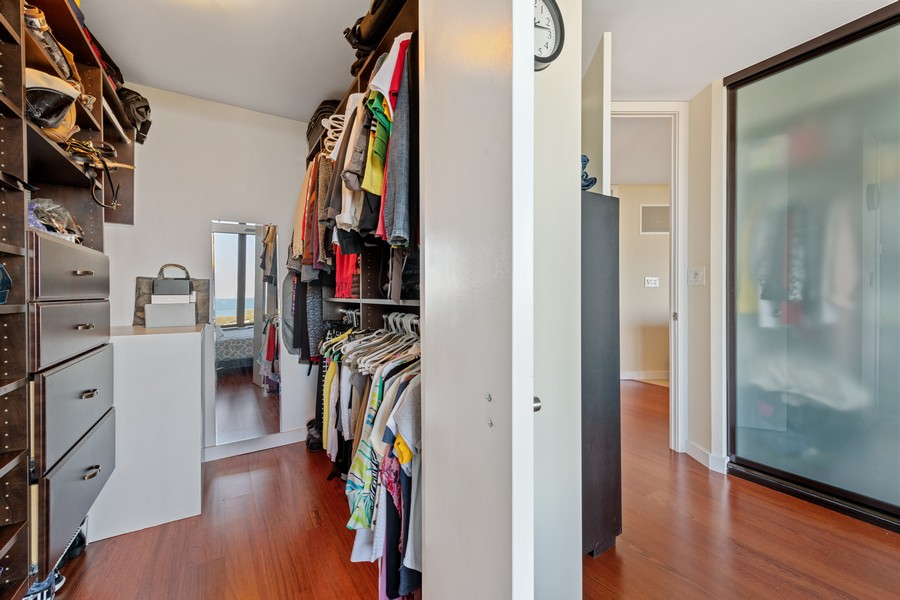 Real Estate Photography - 505 N Lake Shore Drive, #907, Chicago, IL, 60611 - Master Bedroom Closet