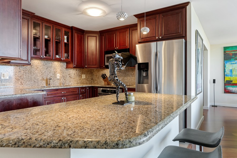 Real Estate Photography - 505 N Lake Shore Drive, #907, Chicago, IL, 60611 - Kitchen