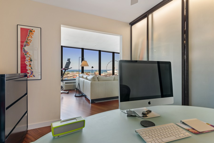Real Estate Photography - 505 N Lake Shore Drive, #907, Chicago, IL, 60611 - Office