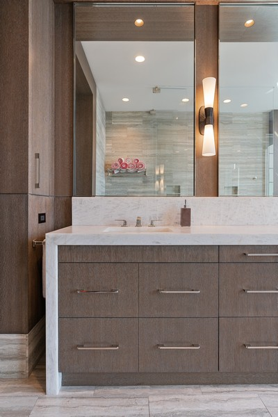 Real Estate Photography - 55 E Erie St, 5401, Chicago, IL, 60611 - Master Bathroom