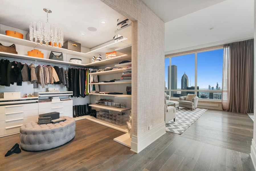 Real Estate Photography - 55 E Erie St, 5401, Chicago, IL, 60611 - Master Bedroom Closet