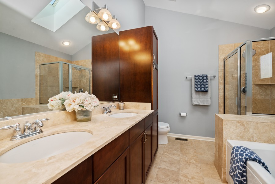 Real Estate Photography - 4520 W Larchmont Ave, Chicago, IL, 60641 - Master Bathroom