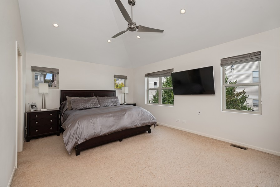 Real Estate Photography - 4520 W Larchmont Ave, Chicago, IL, 60641 - Master Bedroom