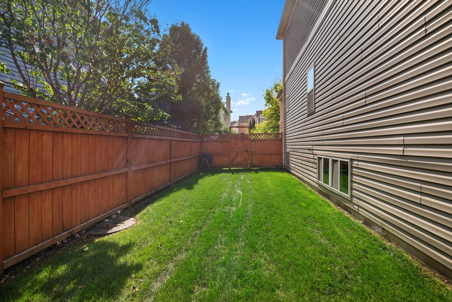 Real Estate Photography - 4520 W Larchmont Ave, Chicago, IL, 60641 - Side Yard