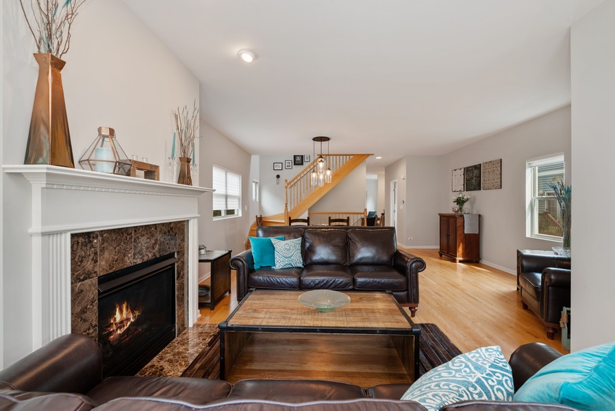Real Estate Photography - 4520 W Larchmont Ave, Chicago, IL, 60641 - Living Room / Dining Room