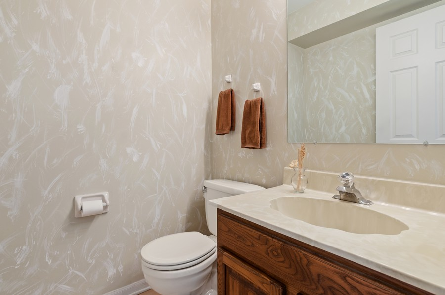 Real Estate Photography - 907 Hobson Dr., Buffalo Grove, IL, 60089 - Powder Room