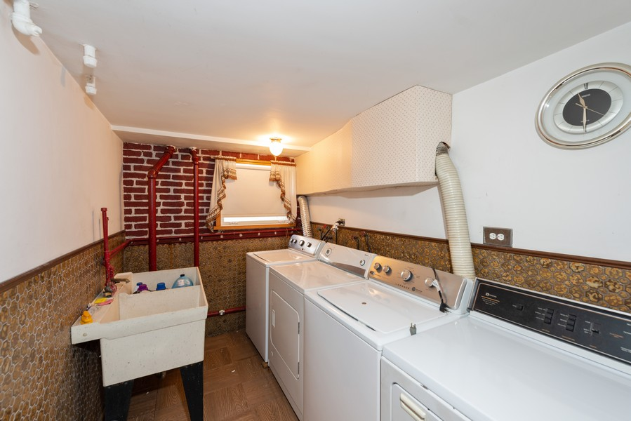 Real Estate Photography - 8522 W Winnemac Ave, Chicago, IL, 60656 - Laundry Room