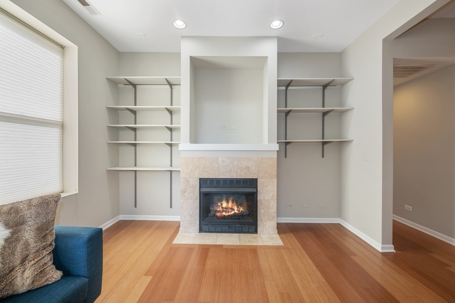 Real Estate Photography - 2740 N Kimball, 2R, Chicago, IL, 60647 - Living Room