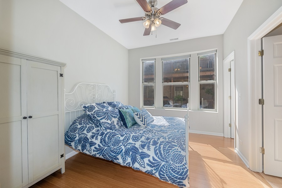 Real Estate Photography - 2740 N Kimball, 2R, Chicago, IL, 60647 - Master Bedroom