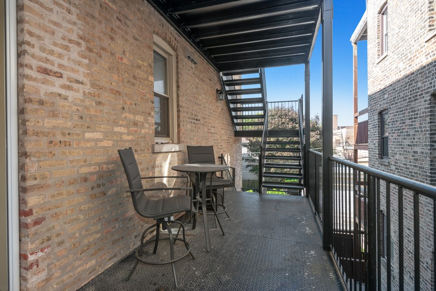 Real Estate Photography - 2740 N Kimball, 2R, Chicago, IL, 60647 - Balcony