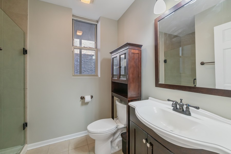 Real Estate Photography - 2740 N Kimball, 2R, Chicago, IL, 60647 - 2nd Bathroom