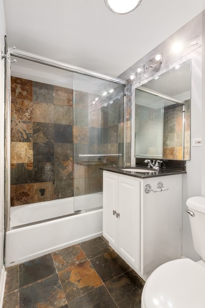 Real Estate Photography - 2902 N Central Park, 2S, Chicago, IL, 60618 - Bathroom