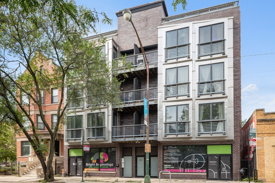 Real Estate Photography - 2902 N Central Park, 2S, Chicago, IL, 60618 - Front View