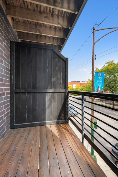 Real Estate Photography - 2902 N Central Park, 2S, Chicago, IL, 60618 - Balcony