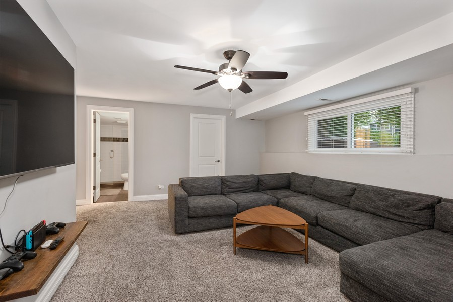 Real Estate Photography - 183 Newton, Glen Ellyn, IL, 60137 - Family Room