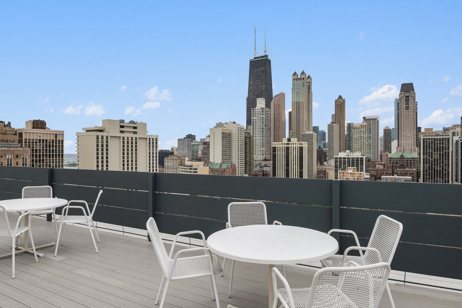 Real Estate Photography - 1300 N. Astor St., 25B, Chicago, IL, 60610 - Roof deck with city views