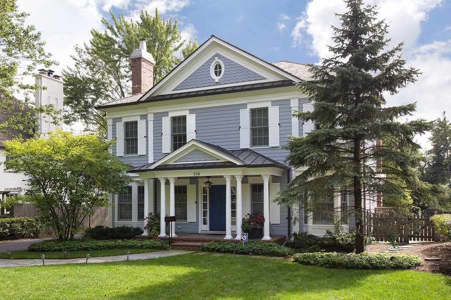 Real Estate Photography - 516 Madison Ave, Glencoe, IL, 60022 - Front View