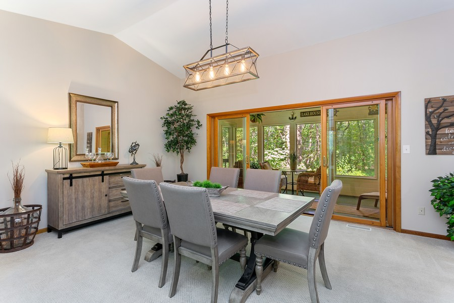 Real Estate Photography - 4100 Chickagami Trl, New Buffalo, MI, 49117 - Dining Room