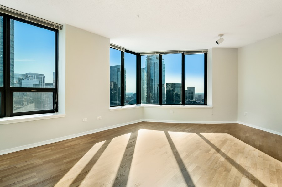 Real Estate Photography - 400 N La Salle, Unit 4207, Chicago, IL, 60654 - Living Room