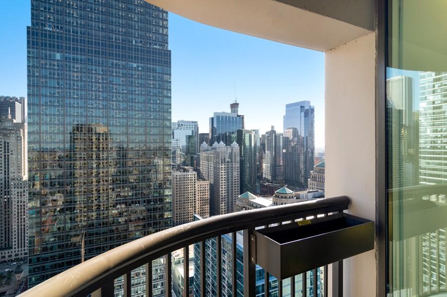 Real Estate Photography - 400 N La Salle, Unit 4207, Chicago, IL, 60654 - Balcony