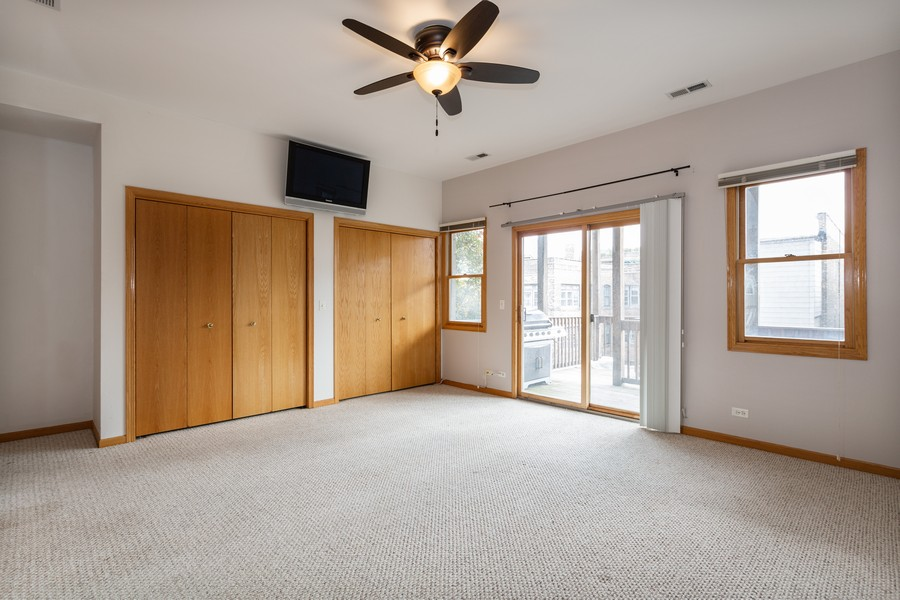 Real Estate Photography - 651 W Wellington, Unit 3, Chicago, IL, 60657 - Master Bedroom