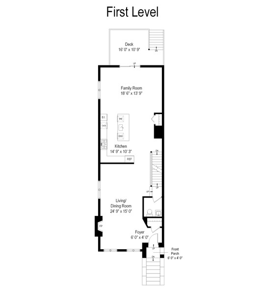 Real Estate Photography - 668 East 46th St, Chicago, IL, 60653 - Floor Plan