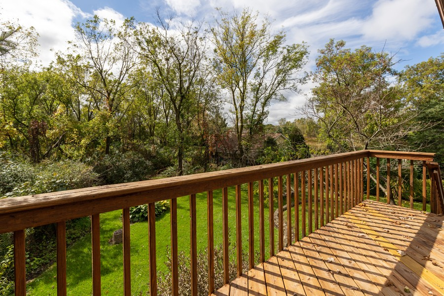 Real Estate Photography - 2907 Salem Blvd, Zion, IL, 60099 - Deck