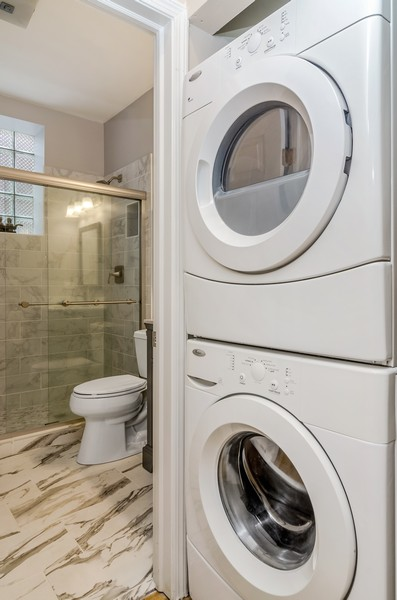 Real Estate Photography - 3930 N Southport, 1S, Chicago, IL, 60613 - Laundry Room