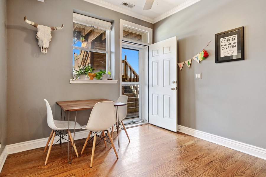 Real Estate Photography - 2539 N Hamlin Ave #2N, Chicago, IL, 60647 - Dining Room