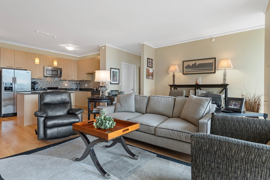 Real Estate Photography - 225 N Columbus Dr, 6808, Chicago, IL, 60601 - Living Room