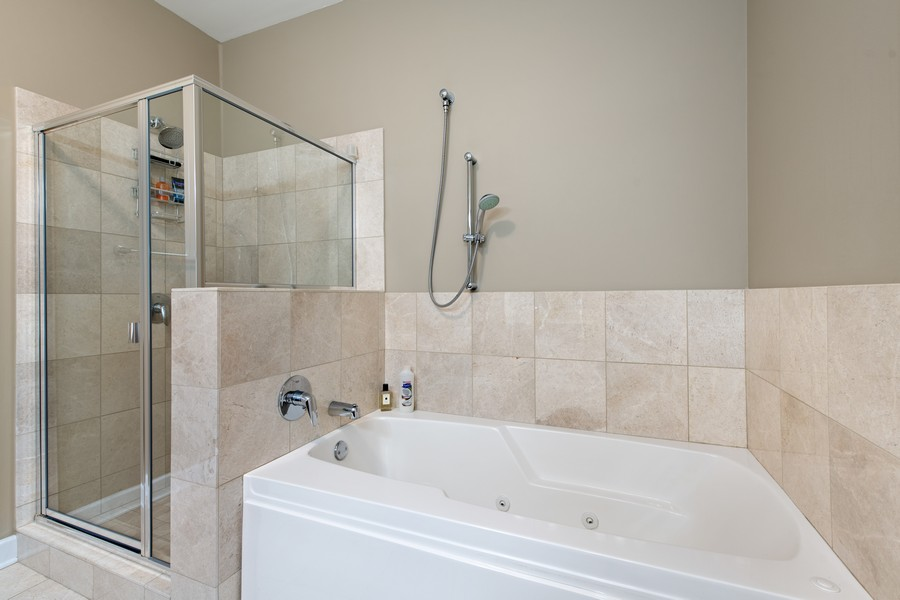 Real Estate Photography - 225 N Columbus Dr, 6808, Chicago, IL, 60601 - Master Bathroom