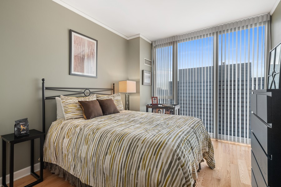 Real Estate Photography - 225 N Columbus Dr, 6808, Chicago, IL, 60601 - 2nd Bedroom