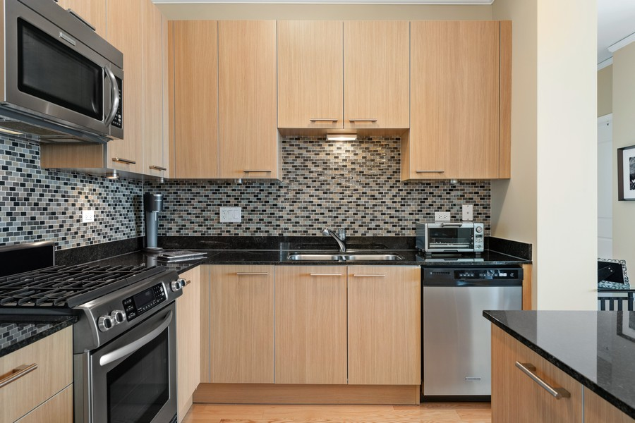 Real Estate Photography - 225 N Columbus Dr, 6808, Chicago, IL, 60601 - Kitchen