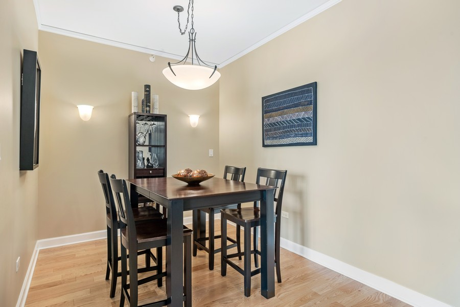 Real Estate Photography - 225 N Columbus Dr, 6808, Chicago, IL, 60601 - Dining Room