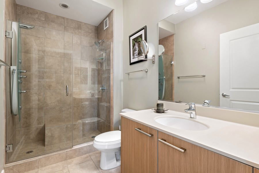 Real Estate Photography - 225 N Columbus Dr, 6808, Chicago, IL, 60601 - Bathroom