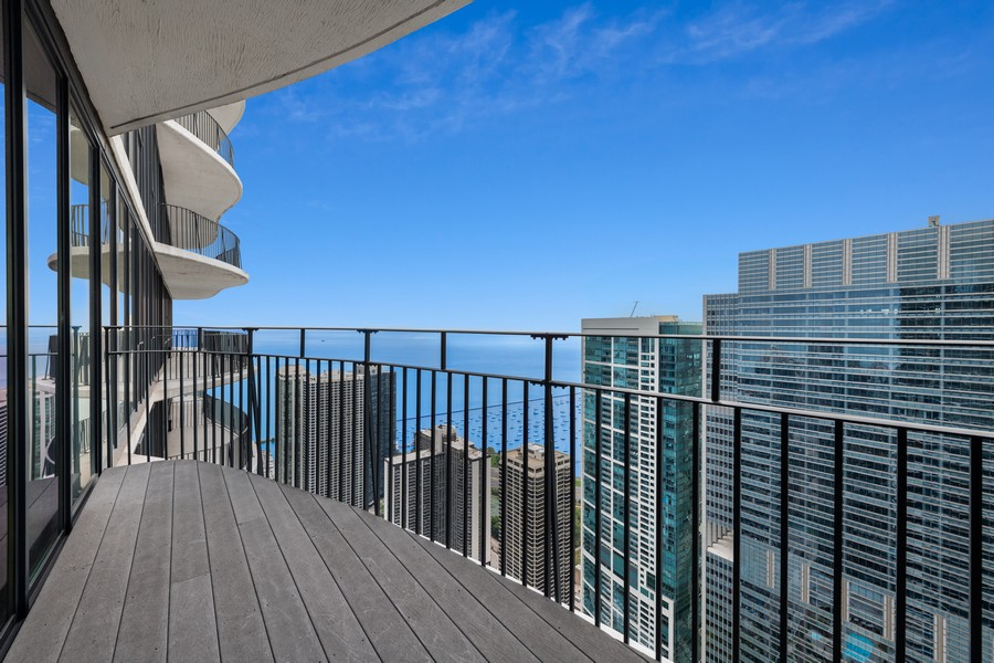 Real Estate Photography - 225 N Columbus Dr, 6808, Chicago, IL, 60601 - Balcony