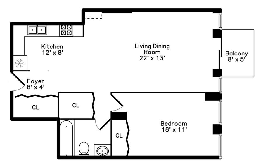 Real Estate Photography - 1660 N. LaSalle St., #1507, Chicago, IL, 60614 - Floorplan