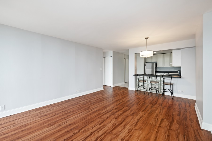 Real Estate Photography - 1660 N. LaSalle St., #1507, Chicago, IL, 60614 - Kitchen / Living Room