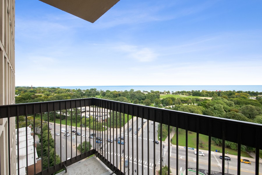 Real Estate Photography - 1660 N. LaSalle St., #1507, Chicago, IL, 60614 - Balcony