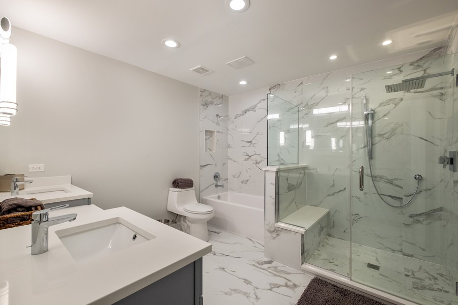 "Real Estate Photography - 1736 Wildberry ""A"", Glenview, IL, 60025 - Master Bathroom"