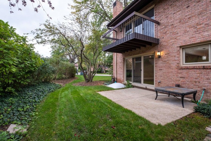 "Real Estate Photography - 1736 Wildberry ""A"", Glenview, IL, 60025 - Rear View"