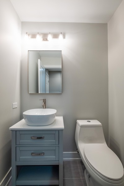 "Real Estate Photography - 1736 Wildberry ""A"", Glenview, IL, 60025 - Half Bath"