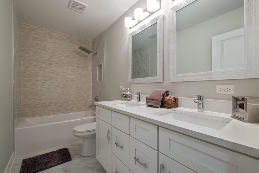 "Real Estate Photography - 1736 Wildberry ""A"", Glenview, IL, 60025 - 2nd Bathroom"