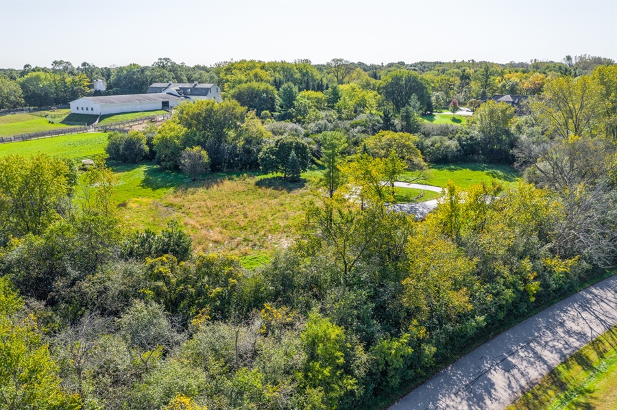 Real Estate Photography - 83 Paganica Drive, Barrington Hills, IL, 60010 - Aerial View