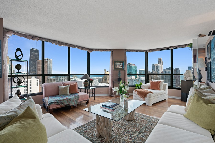 Real Estate Photography - 405 N Wabash Ave, #4810, Chicago, IL, 60611 - Living Room