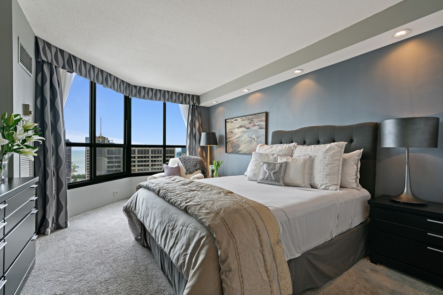Real Estate Photography - 405 N Wabash Ave, #4810, Chicago, IL, 60611 - Master Bedroom