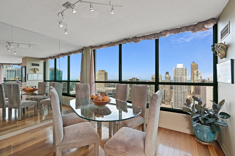 Real Estate Photography - 405 N Wabash Ave, #4810, Chicago, IL, 60611 - Dining Room