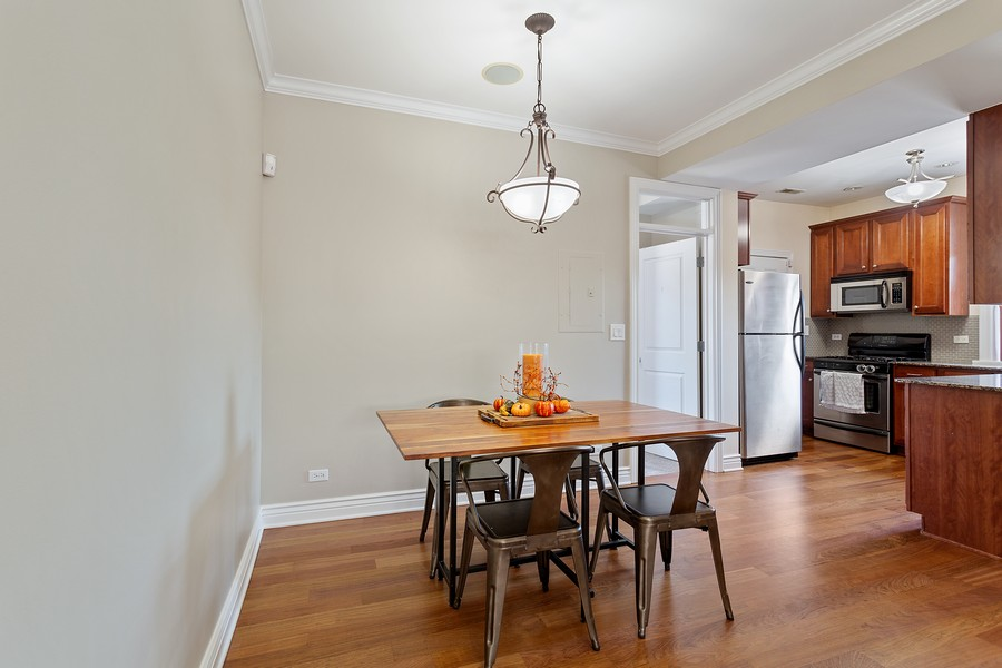 Real Estate Photography - 1608 West Byron Street, #3, Chicago, IL, 60613 - Dining Room