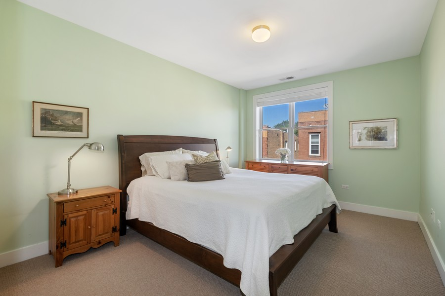 Real Estate Photography - 2771 W Francis Pl, 305N, Chicago, IL, 60647 - Master Bedroom