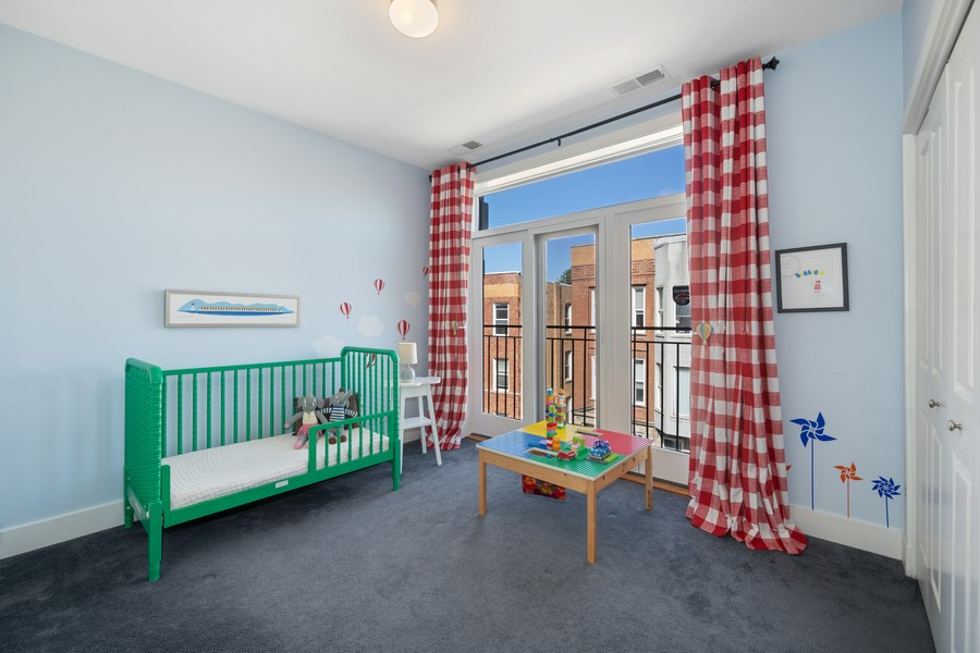 Real Estate Photography - 2771 W Francis Pl, 305N, Chicago, IL, 60647 - 2nd Bedroom